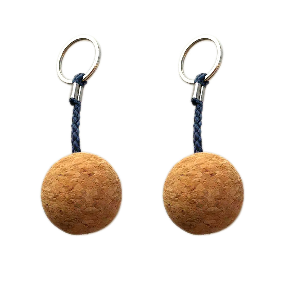 2PC 3.5cm Ultralight Kayak Canoe Buoyant Floating Cork Keyring Keychain Marine Sailing Boat Float Replacement Accessories
