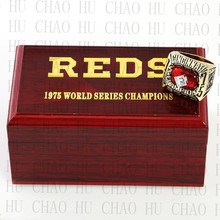 Year 1975 MLB Cincinnati Reds World Series Championship Ring 10-13Size Fans Gift With High Quality Wooden Box