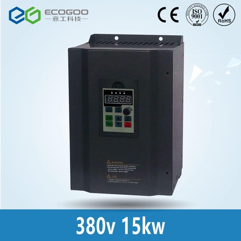 15kw 380 В трехфазный низкая Мощность преобразователь частоты для водяной насос
