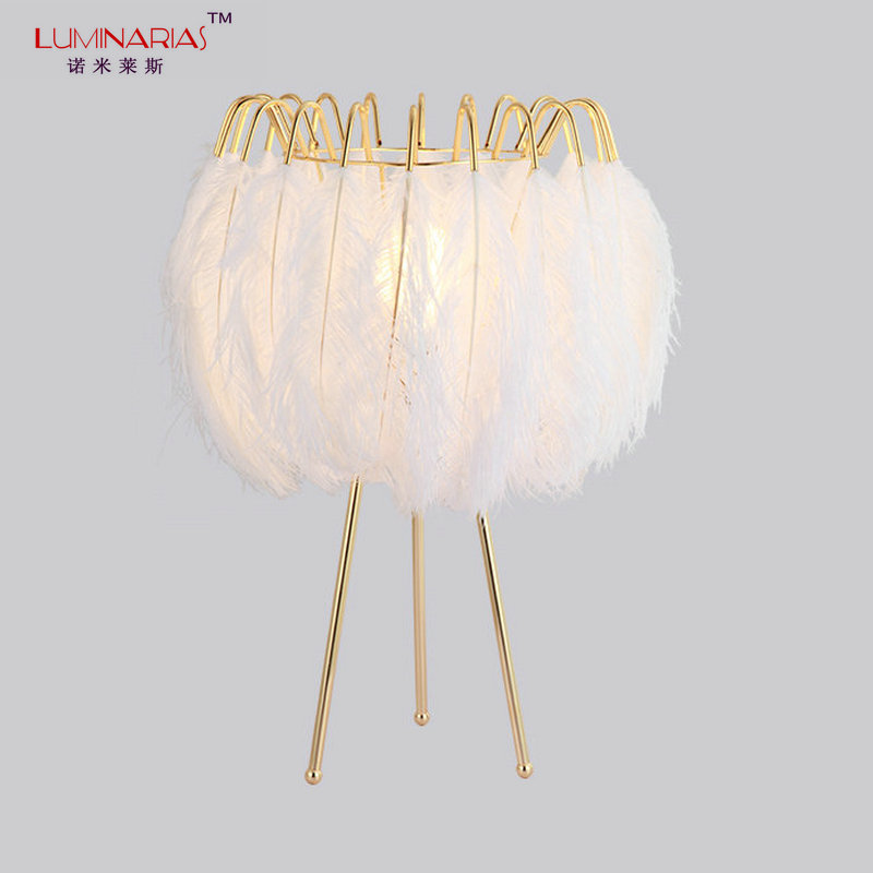 Modern LED Art Decoration Feather Table lamp Nordic Home light Bed Room Kitchen Living Room Table Light AC 110V 220V E27 6 e27 heads nordic post modern designer originality personality art living bed room cafe fashion led chandelier home decor light