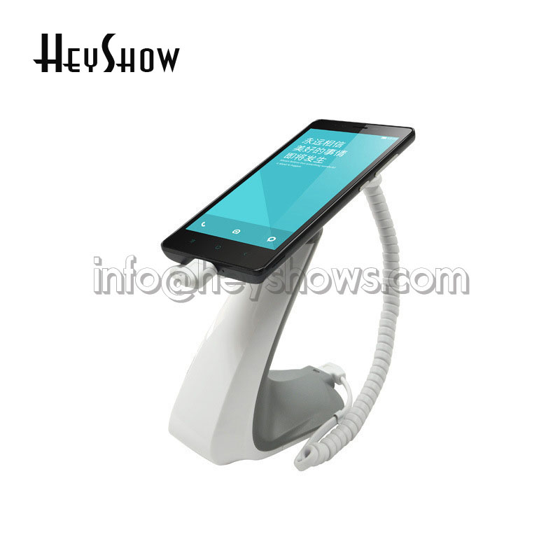 Cell Phone Security Anti-theft Display Stand With Alarm And Charging Function For Mobile Phone Retail Store Exhibition