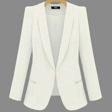 2019 Plus Size Business Spring Autumn Jackets Short Slim long-sleeve Blazer Women