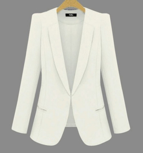 Image 1 - 2020 New Plus Size Womens Business Suits Spring Autumn All match women Blazers Jackets Short Slim long sleeve Blazer Women Suit