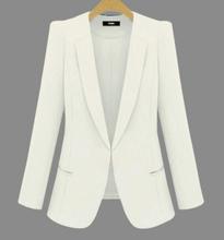 2020 nowy Plus Size damskie garnitury biurowe wiosna jesień cały mecz kobiety Blazers kurtki krótka Slim z długim rękawem Blazer kobiety garnitur tanie tanio OAIRED REGULAR Osób w wieku 18-35 lat Ścięty Ukrytych łuszcz NYLON Poliester Pełna 0087 WOMEN Formalne Kieszenie Stałe