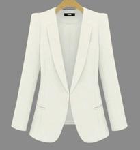 Trajes de negocios de talla grande para mujer, chaquetas combinables con todo para primavera y otoño, chaqueta de manga larga ajustada corta, novedad de 2020