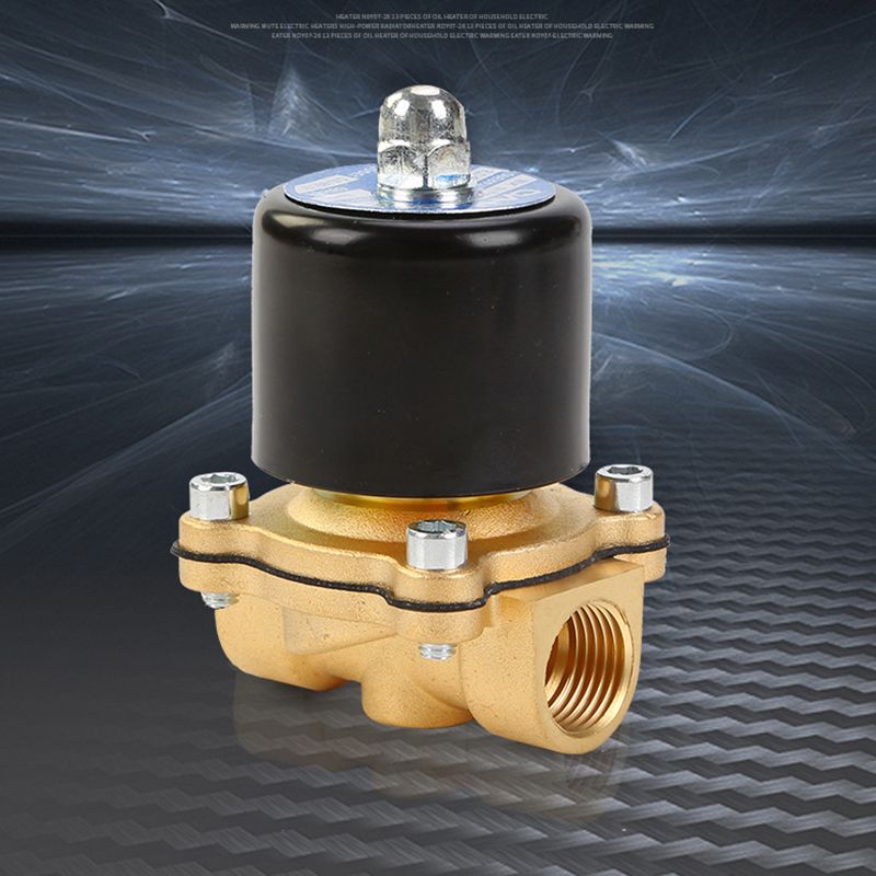 DN15 1/2'' AC220V AC110V DC24V DC12V Brass Electric Solenoid Valve With Two-way Two-position For Water / Oil / Gas