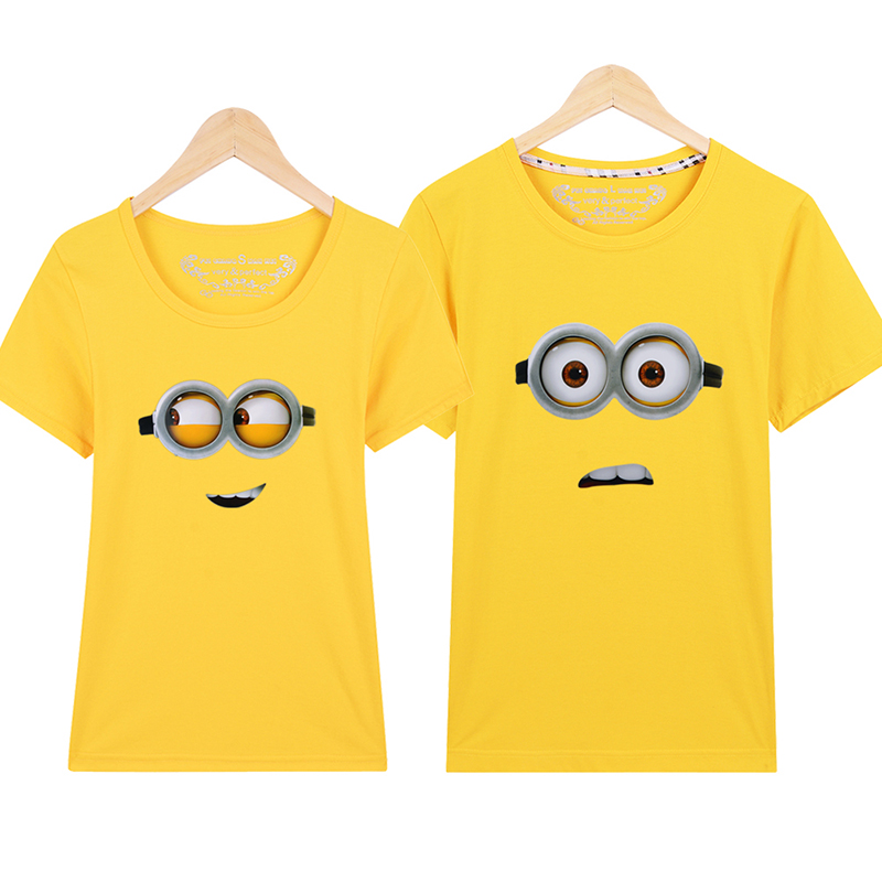Minions T Shirt Lovers Clothes Women's Men's Casual O Neck Short Sleeve T-shirts For Couples Cartoon Short-sleeve T-shirt