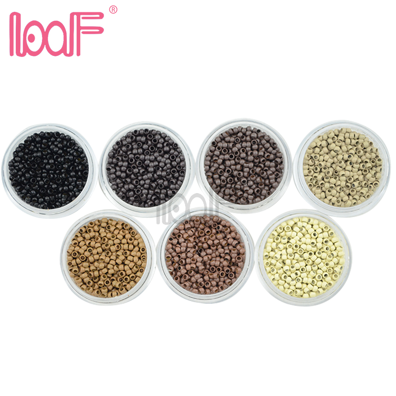 LOOF 10000pcs 10 jars 2 5mm with 7colors flare NANO micro copper beads links i tip