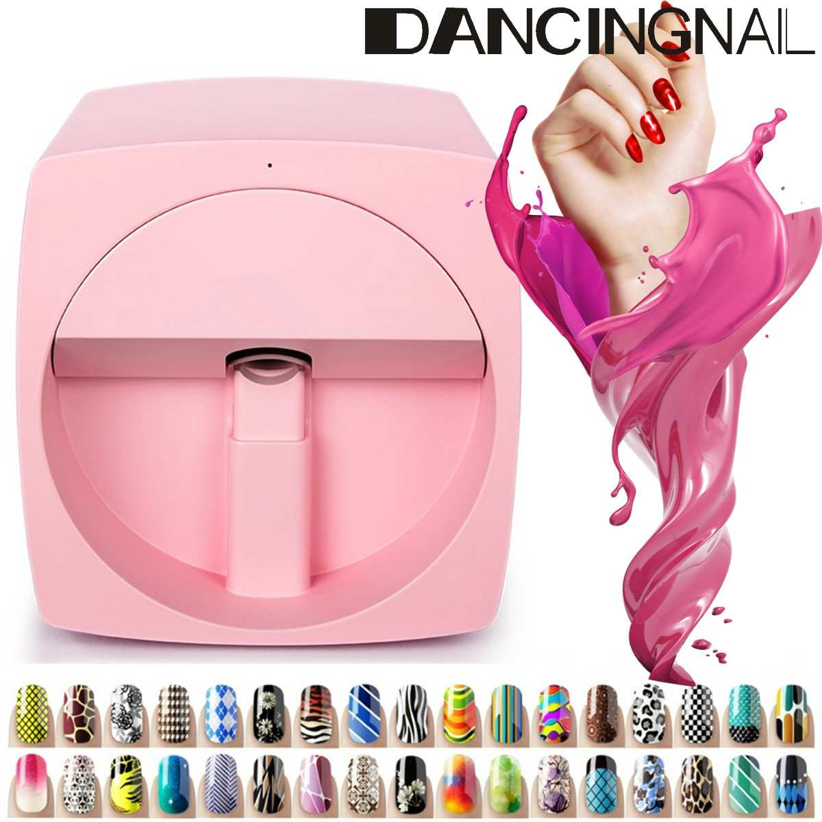 3D Mobile Nail Printer Manicure Transmission Picture Photo Pattern Color Printing Machine Advanced Nail Art Equipment