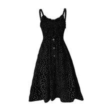 Polka Dot Print Sundress 2019 Strapless Ruffle Sashes Tied Bow A-Line Dress Women Button Backless Summer Beach Dresses allover cartoon print bow tied dress