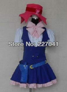 Macross Frontier Sheryl Nome Cowgirl Cosplay Costume Vocaloid Haruhi Suzumiya A0136