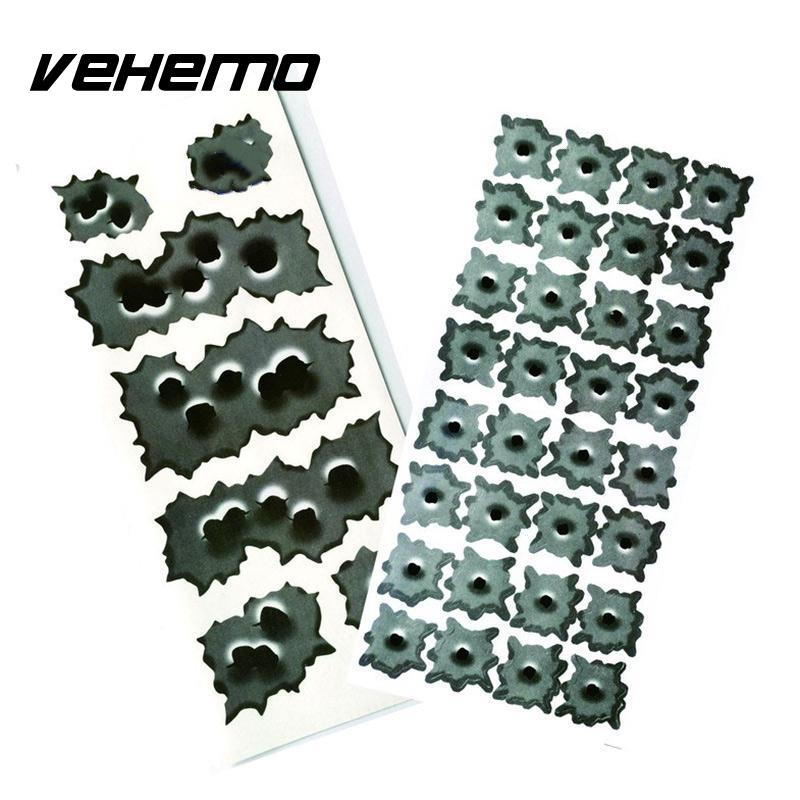 Vehemo 3D Bullet Hole Car Stickers Styling Accessories Motorcycle Sticker Decals Car-styling sat0086 free shipping auarita airbrush paint guns professional paint sprayer high pressure air gun tank paint sprayer pneumatic