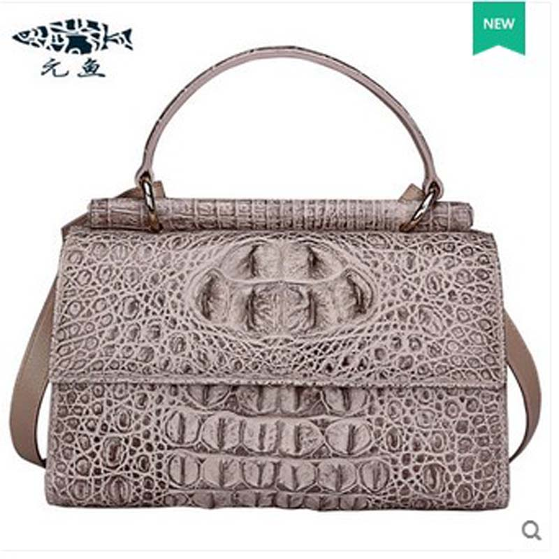 2018 yuanyu  new hot free shipping crocodile women handbag single shoulder bag large capacity high-end female bag yuanyu 2018 new hot free shipping real thai crocodile women handbag female bag lady one shoulder women bag female bag