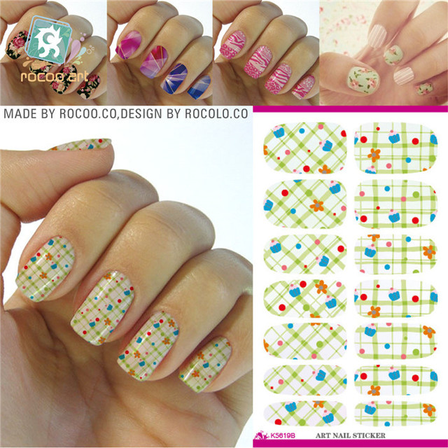 K5619 Water Transfer Foils Nail Art Sticker Polka Dot Imperial Crown Design Manicure Decals