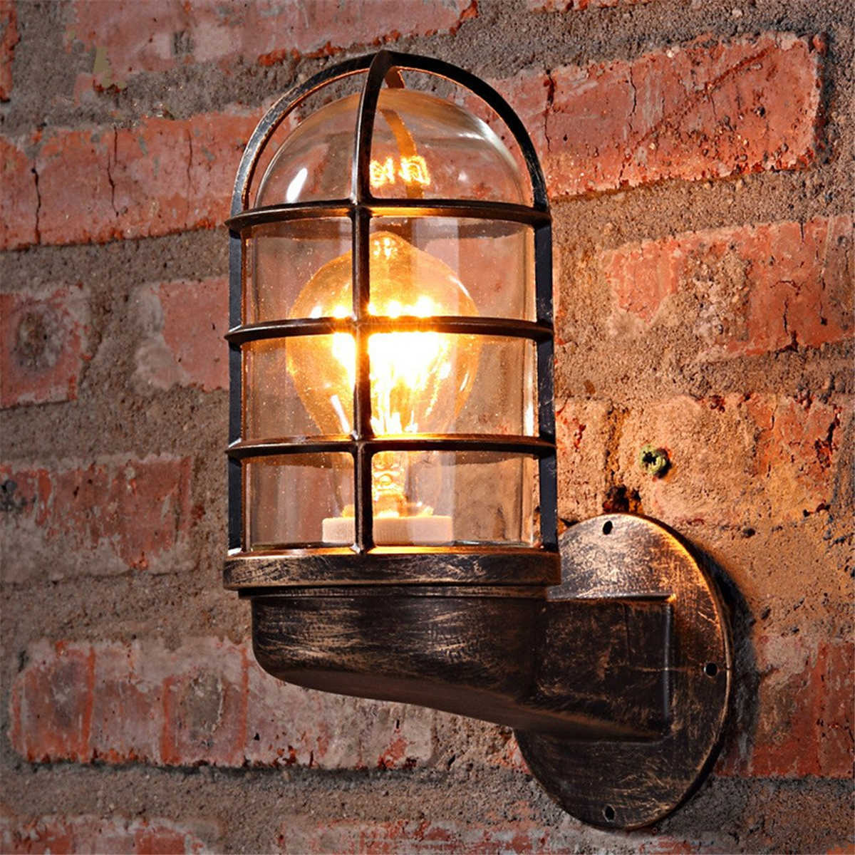 Vintage Industrial Unique Wall Light Cage Guard Sconce Loft Light Fixture Modern Indoor Lighting Wall Lamps Iron Copper Wall Lamps Aliexpress