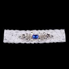 Women Garters Crystal Diamante Wedding Bride Lace Garter Hen Stag Ladies Night Party Fancy Dress