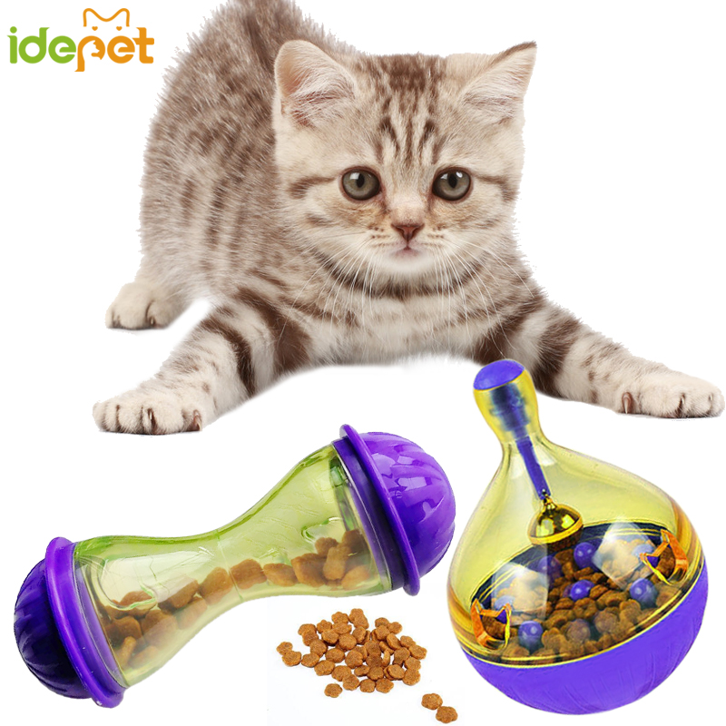 Cat Feeders Food Ball Pet Interactive Toy Tumbler Egg Smarter Cat Playing Toys Treat Ball Shaking for Dogs Increases IQ 6c4 figurine