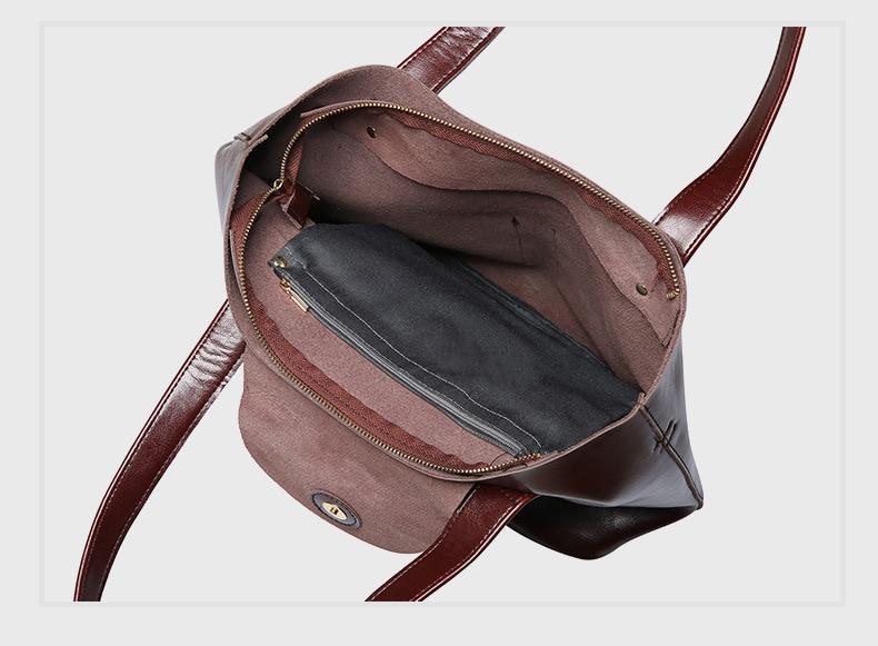 genuíno grande nova bolsa de ombro para