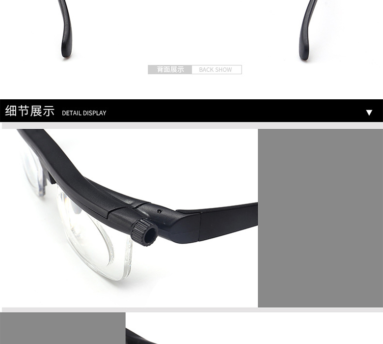 3449afebe8 Women Men Focus Adjustable lens Reading Glasses Myopia Eyeglasses -6D to +3D  Diopters Magnifying Variable Strength Magnifier