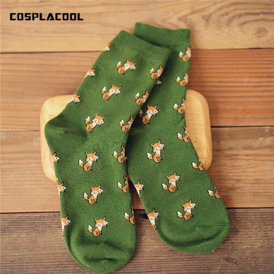 1 Pairs Funny Meias Women's Cartoon Creative Novelty Animal Socks Girls Cute Harajuku Female Warm Cotton Sox 35-40 Crew Socks