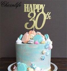 Chicinlife, 1 шт., с днем 30th/40th/50th, взрослый возраст, детские украшения, день рождения, товары для вечерние