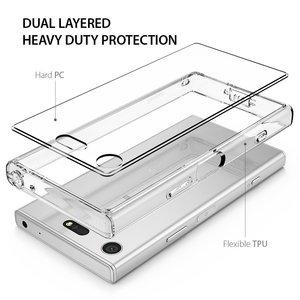 Image 4 - Чехол Ringke Fusion для Sony Xperia XZ1 компактный прозрачный ПК задний бампер из ТПУ встроенный пылезащитный Разъем сопротивление падению гибридные Чехлы