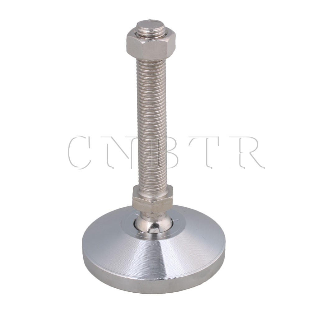 CNBTR 80mm Dia Carbon Steel M16x100mm Adjustable Furniture Glide Leveling Feet