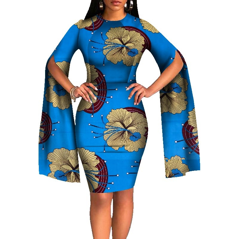 Dashiki African Dresses for Women 2018 Bazin Riche Long Sleeve African Dresses Ankara Fashion Elegant African Clothing