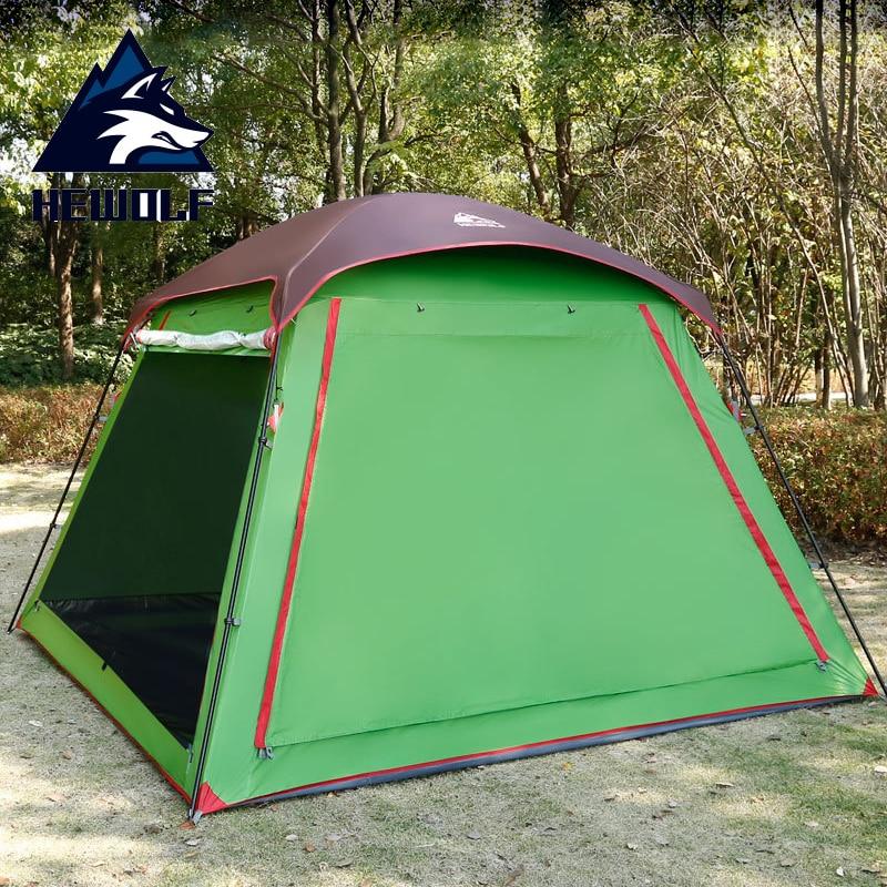 5-8 personnes grande famille Camping tente multifonction tente extérieure étanche 4 saison Double couche plage fête tentes Pergola