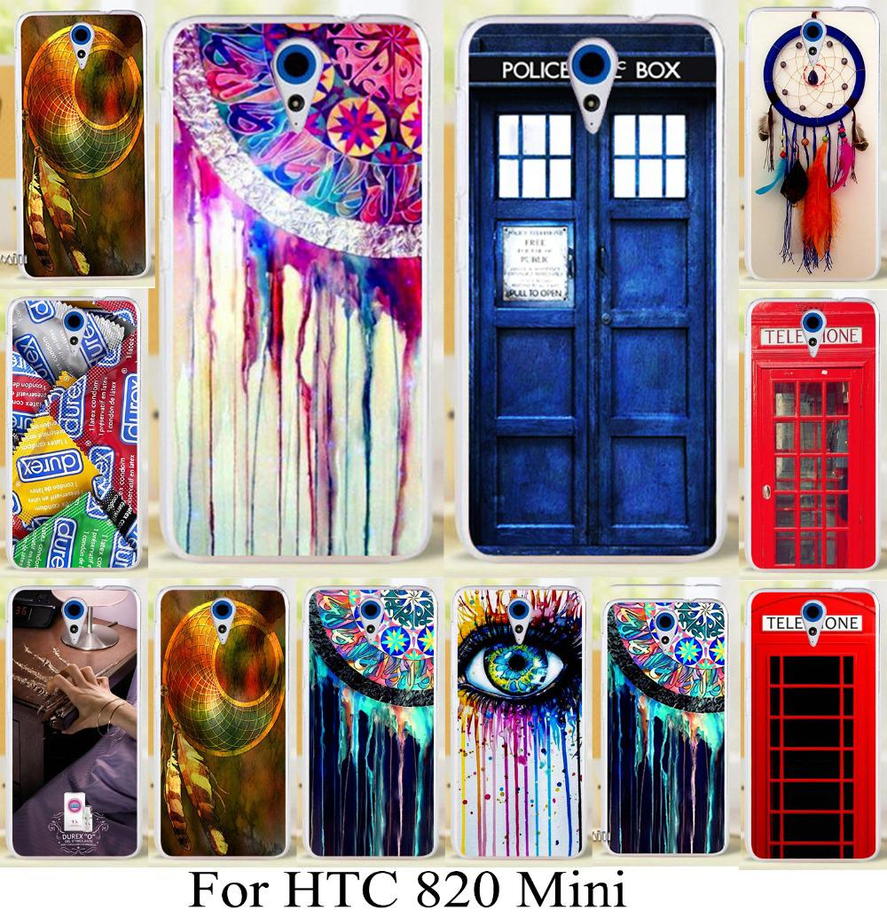 TAOYUNXI Soft TPU Hard Plastic Cover for HTC Desire 620 620G Desire 820 Mini D820mu 5inch Case brilliant dream catcher mix color