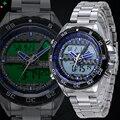 NORTE Homens Sport Watch Men Quartz relógio de Pulso LED LCD Mão Homens relógio Relogio masculino Marca de Luxo Whatch Homens Dual Display relógio