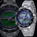 NORTH Sport Watch Men LED Quartz Wristwatch Men LCD Hand Clock Men Relogio Masculino Luxury Brand Whatch Men Dual Display Watch