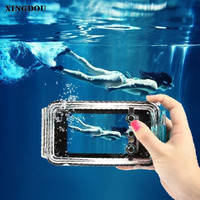 XINGDUO Case for iPhone 5 Underwater phone case 40m Waterproof Diving Photo Housing Shell Case for iPhone 5/SE/5S/6s/6Splus