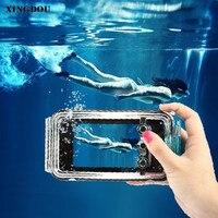 XINGDUO Skrzynka dla iPhone 5 przypadku telefonu 40 m Wodoodporna Nurkowanie Podwodne Zdjęcie Obudowa Shell Case for iPhone 5/SE/5S/6 s/6 Splus