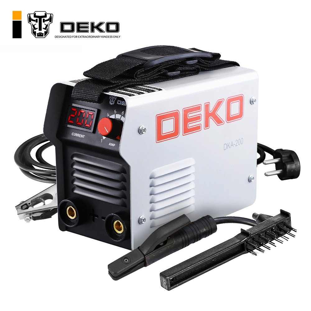 DEKO DKA-200G 200A 4.1KVA IP21S Inverter Arc Electric Welding Machine 220V MMA Welder for Welding Working and Electric Working churrasqueira para fogão
