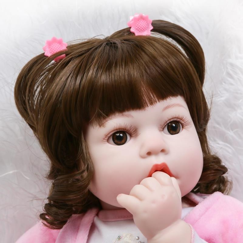 US $55 91 44% OFF|Chubby baby face baby doll cute princess 22 inch Real  Silicone 55 cm Soft Girl Silicone Reborn Doll Toys Lifelike born  Juguetes-in
