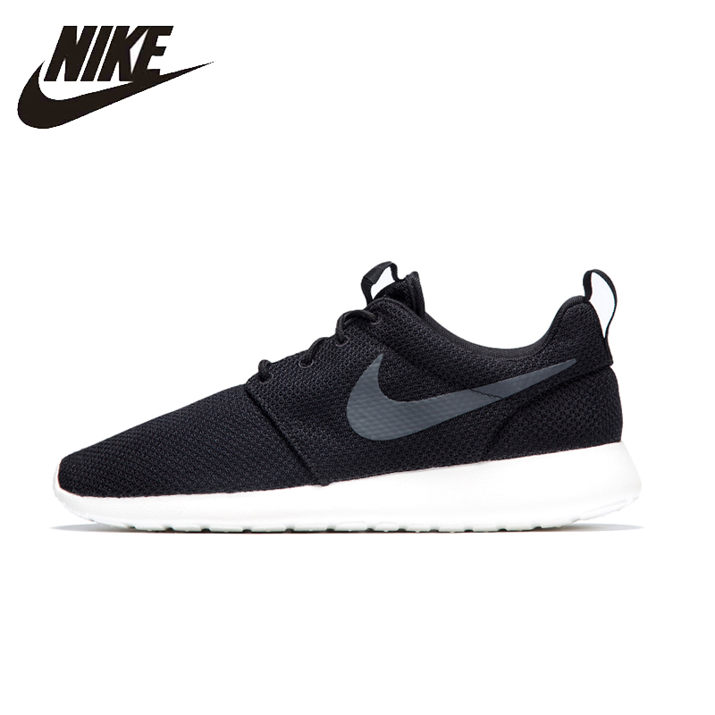 NIKE ROSHE RUN Mens Running Shoes Mesh Breathable Footwear Super Light Comfortable Stability Sneakers For Men Shoes#511881-010 nike roshe run men air mesh breathable running shoes original new men outdppr sport sneakers trainers shoes