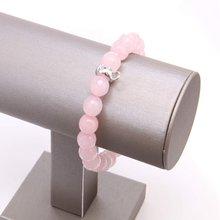 Женский браслет с бусинами из кварца thomas style розовый ААА