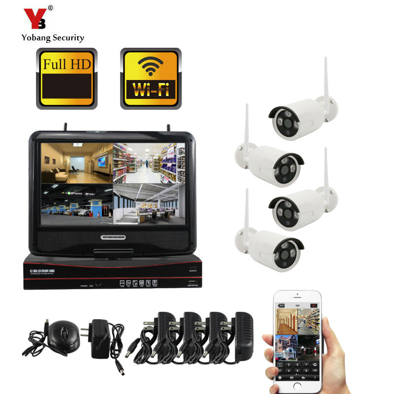 YoBang Security 4CH 960P POE NVR Kit CCTV Security System 1.3MP IR Outdoor Audio Record IP Camera P2P Video Surveillance Set image