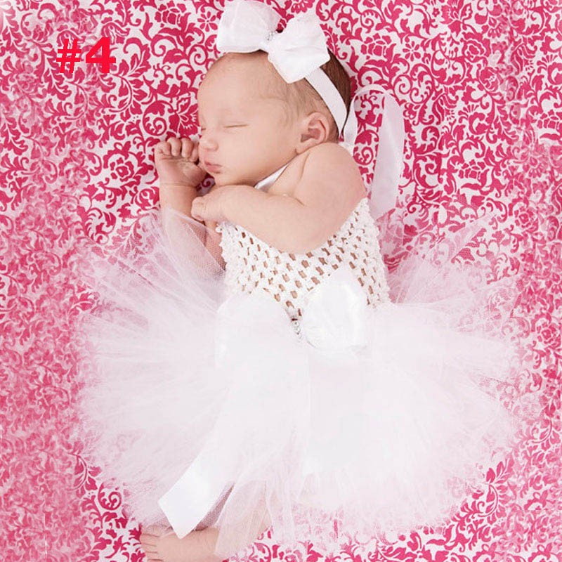 Toddler Girls Fancy Princess Tutu Dress Holiday Flower Double Layers Fluffy Baby Dress with Headband Photo Props TS044 20