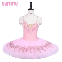 Classical Ballet Tutu Girls Platter Pink Professional Adult Performance Pancake CostumeBT9241