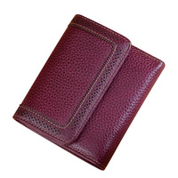 Women's Short Leather Wallet Women Retro Purse Small Wallet Large Capacity Vintage Leather Three Fold Wallet