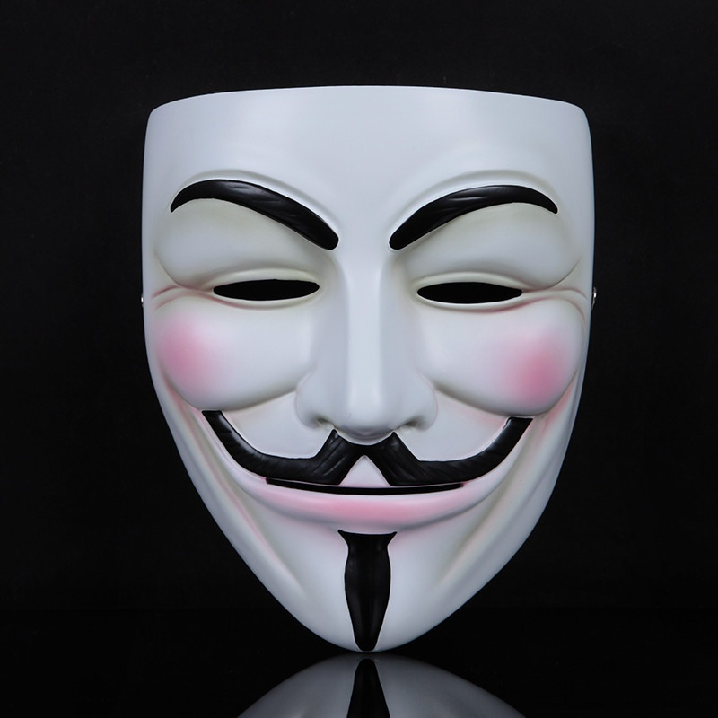 2 Pcs Halloween Mask V for Vendetta Masks Guy Fawkes Mask