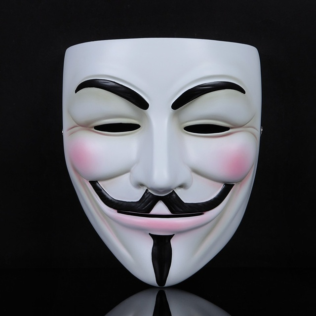 2 Pcs Halloween Mask V for Vendetta Masks Guy Fawkes Mask Party ...
