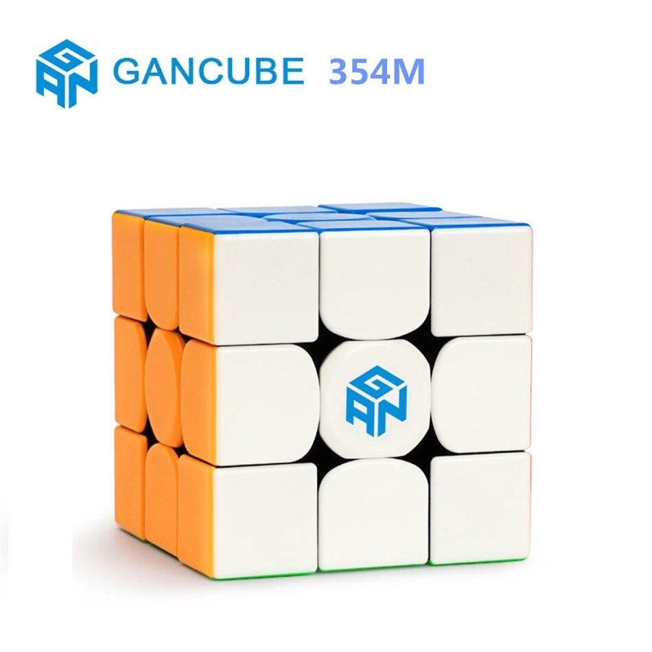 GAN 3x3 CUBE 354 M 3x3x3 Cube magnétique 3 couches Speed Cube professionnel magnétique Puzzle jouets pour enfants enfants cadeau jouet