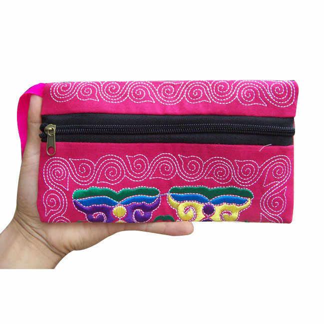 Wristlet carteiras coin purse Mulheres Étnicos Bordados Feitos À Mão Saco de Embreagem Bolsa Carteira Do Vintage pequenas bolsas carteiras minibag * 0.35
