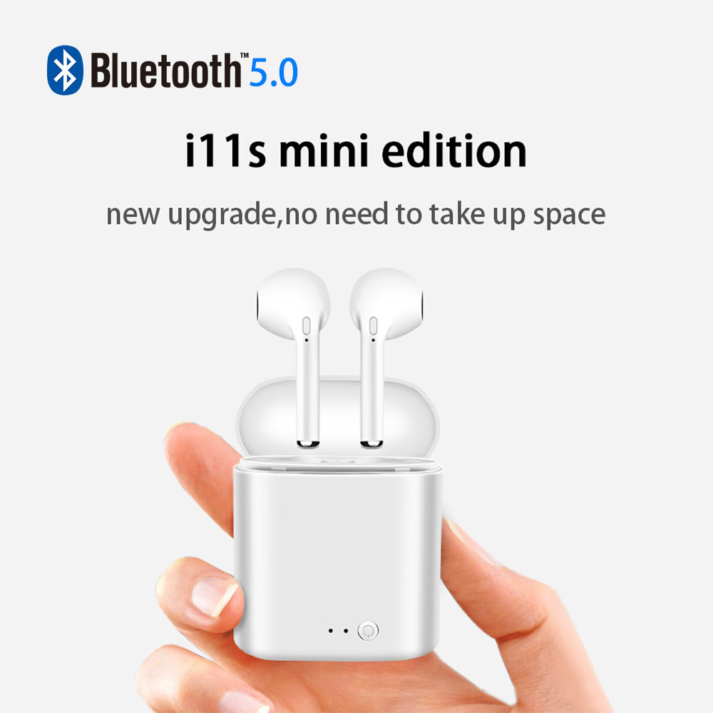 Image 2 - i11 TWS Mini Wireless Bluetooth Earphone 5.0 Wireless Earphones Earpieces Earbud Headset i7s With Mic For Xiaomi All Smart Phone-in Bluetooth Earphones & Headphones from Consumer Electronics