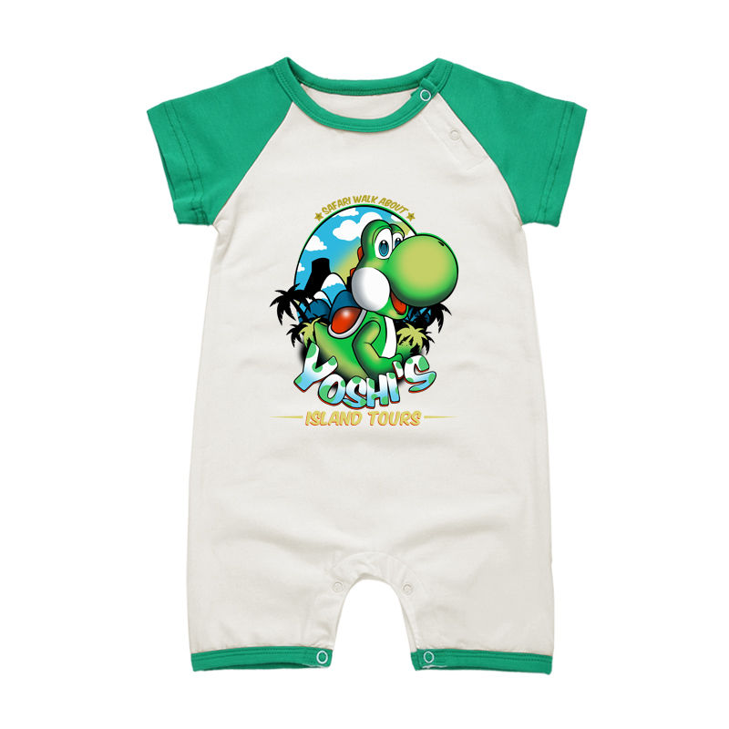 Cartoon Printing Style Baby Rompers Yoshi Summer Costume For Infant Boy Girl Brand Newborn Short Sleeve Summer Clothes Jumpsuits