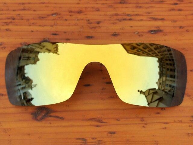 24K Golden Mirror Polarized Replacement Lenses For Batwolf Sunglasses Frame 100% UVA & UVB Protection