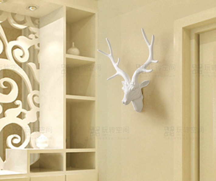 Continental Decorative Wall Hangings Creative Animal Head Deer ...